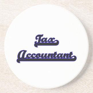 Sistema de trabajo clásico del contable del posavasos de arenisca
