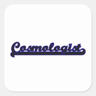 Sistema de trabajo clásico del cosmólogo pegatina cuadrada