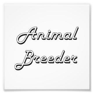 Sistema de trabajo clásico del criador animal fotos