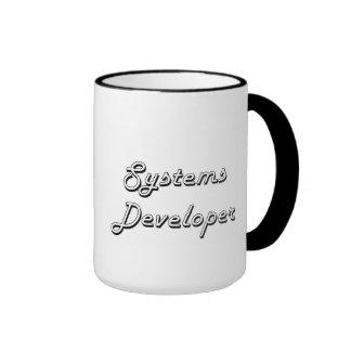 Sistema de trabajo clásico del desarrollador de taza a dos colores
