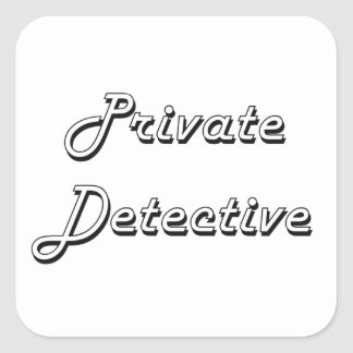 Sistema de trabajo clásico del detective privado pegatina cuadrada