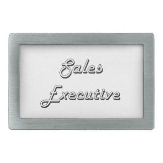 Sistema de trabajo clásico del ejecutivo de ventas hebillas de cinturon rectangulares