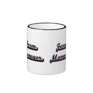 Sistema de trabajo clásico del encargado de la taza a dos colores