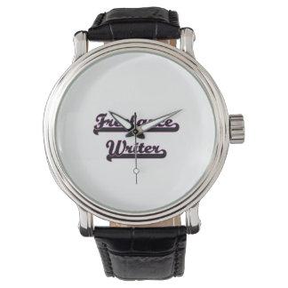 Sistema de trabajo clásico del escritor free lance relojes