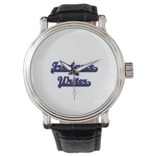 Sistema de trabajo clásico del escritor free lance reloj