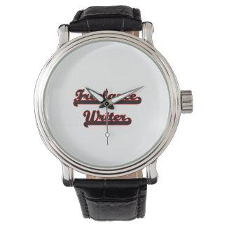 Sistema de trabajo clásico del escritor free lance relojes de pulsera