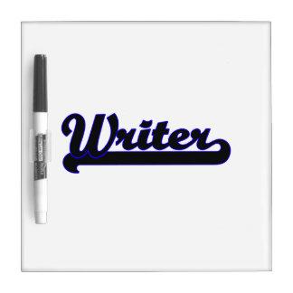Sistema de trabajo clásico del escritor tablero blanco