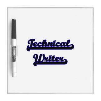 Sistema de trabajo clásico del escritor técnico pizarra