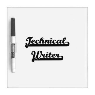 Sistema de trabajo clásico del escritor técnico pizarra blanca
