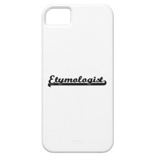 Sistema de trabajo clásico del etimólogo iPhone 5 Case-Mate cárcasa