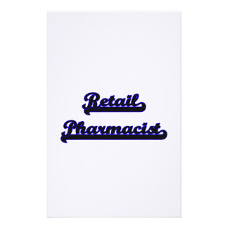 Sistema de trabajo clásico del farmacéutico al por personalized stationery