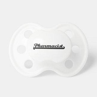 Sistema de trabajo clásico del farmacéutico chupetes de bebé