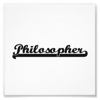 Sistema de trabajo clásico del filósofo impresión fotográfica
