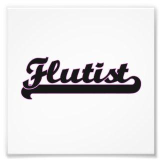 Sistema de trabajo clásico del flautista fotografía
