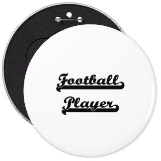 Sistema de trabajo clásico del futbolista chapa redonda 15 cm
