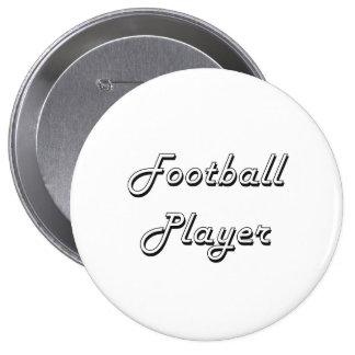 Sistema de trabajo clásico del futbolista chapa redonda 10 cm