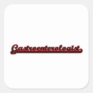 Sistema de trabajo clásico del gastroenterólogo pegatina cuadrada