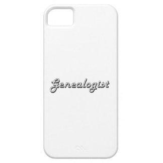 Sistema de trabajo clásico del Genealogist iPhone 5 Case-Mate Protectores