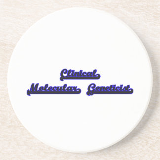 Sistema de trabajo clásico del genetista molecular posavasos manualidades