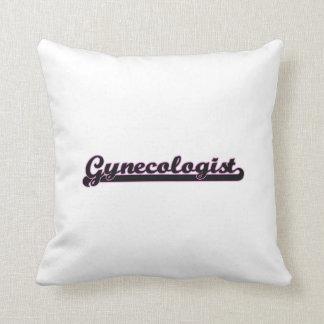 Sistema de trabajo clásico del ginecólogo almohadas