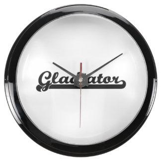 Sistema de trabajo clásico del gladiador reloj pecera
