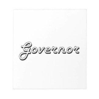 Sistema de trabajo clásico del gobernador bloc de papel