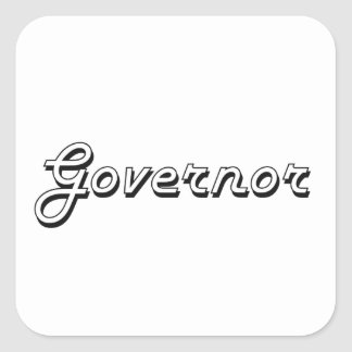 Sistema de trabajo clásico del gobernador pegatina cuadrada