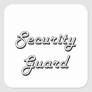 Sistema de trabajo clásico del guardia de pegatina cuadrada