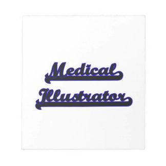 Sistema de trabajo clásico del ilustrador médico libreta para notas