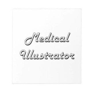 Sistema de trabajo clásico del ilustrador médico blocs de papel