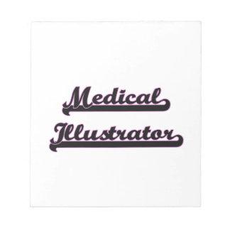 Sistema de trabajo clásico del ilustrador médico blocs de notas
