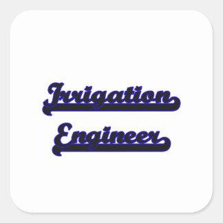 Sistema de trabajo clásico del ingeniero de la pegatina cuadrada