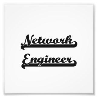 Sistema de trabajo clásico del ingeniero de la red fotografía