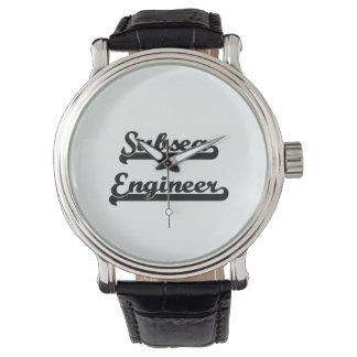 Sistema de trabajo clásico del ingeniero submarino relojes
