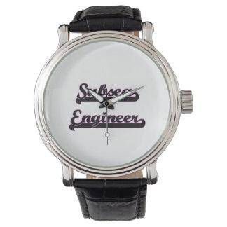 Sistema de trabajo clásico del ingeniero submarino relojes de mano