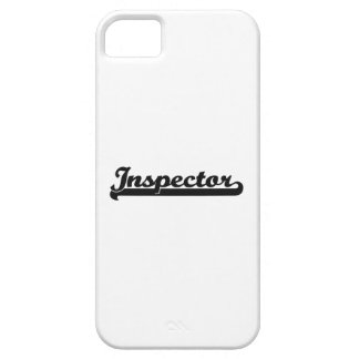 Sistema de trabajo clásico del inspector iPhone 5 funda