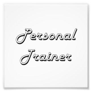 Sistema de trabajo clásico del instructor personal arte fotográfico