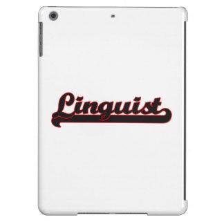 Sistema de trabajo clásico del lingüista funda para iPad air