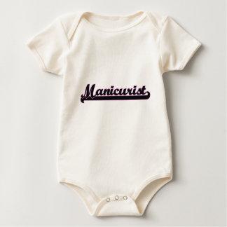 Sistema de trabajo clásico del manicuro traje de bebé