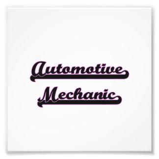 Sistema de trabajo clásico del mecánico automotriz fotografía