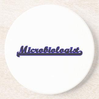 Sistema de trabajo clásico del microbiólogo posavasos de arenisca