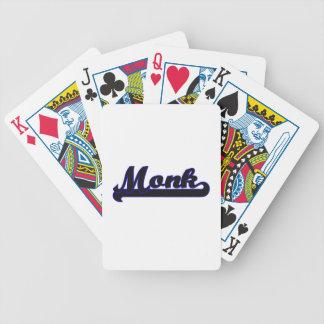Sistema de trabajo clásico del monje cartas de juego