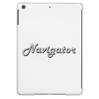 Sistema de trabajo clásico del navegador funda para iPad air