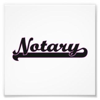 Sistema de trabajo clásico del notario impresión fotográfica