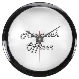 Sistema de trabajo clásico del oficial de la reloj acuario