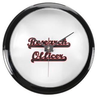 Sistema de trabajo clásico del oficial de la reloj pecera