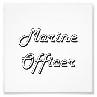 Sistema de trabajo clásico del oficial marino impresiones fotograficas