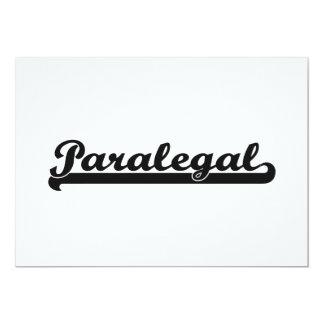 """Sistema de trabajo clásico del Paralegal Invitación 5"""" X 7"""""""