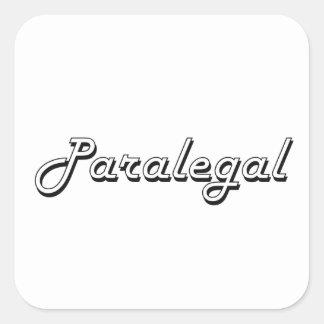 Sistema de trabajo clásico del Paralegal Pegatina Cuadrada