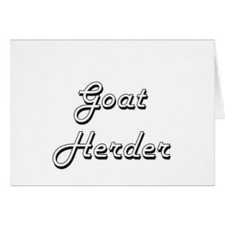 Sistema de trabajo clásico del pastor de la cabra tarjeta pequeña